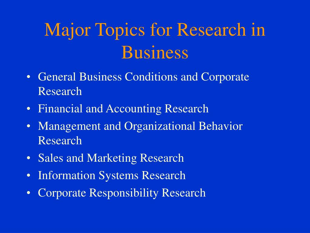 business presentation topics ppt presentation