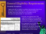 general eligibility requirements18