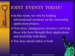 joint events today
