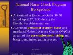 national name check program background