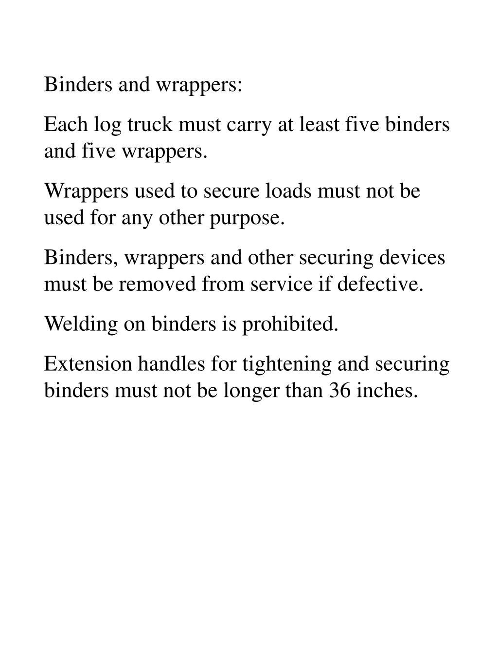 Binders and wrappers: