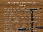 a marriage of in convenience cont