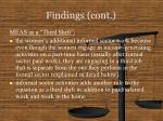findings cont10
