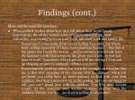 findings cont13