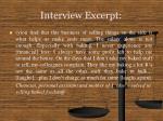 interview excerpt