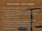 introduction aim of paper