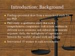 introduction background