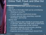 online theft fraud and other dot cons