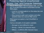protecting against unauthorized access use and computer sabotage3