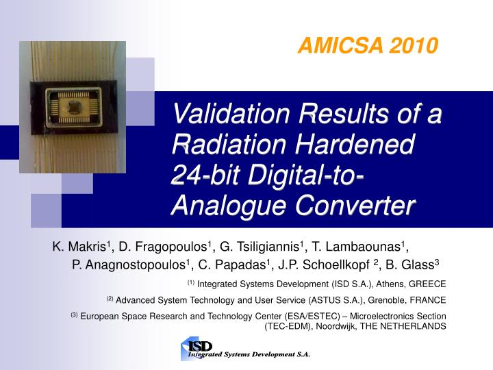 Validation results of a radiation hardened 24 bit digital to analogue converter l.jpg