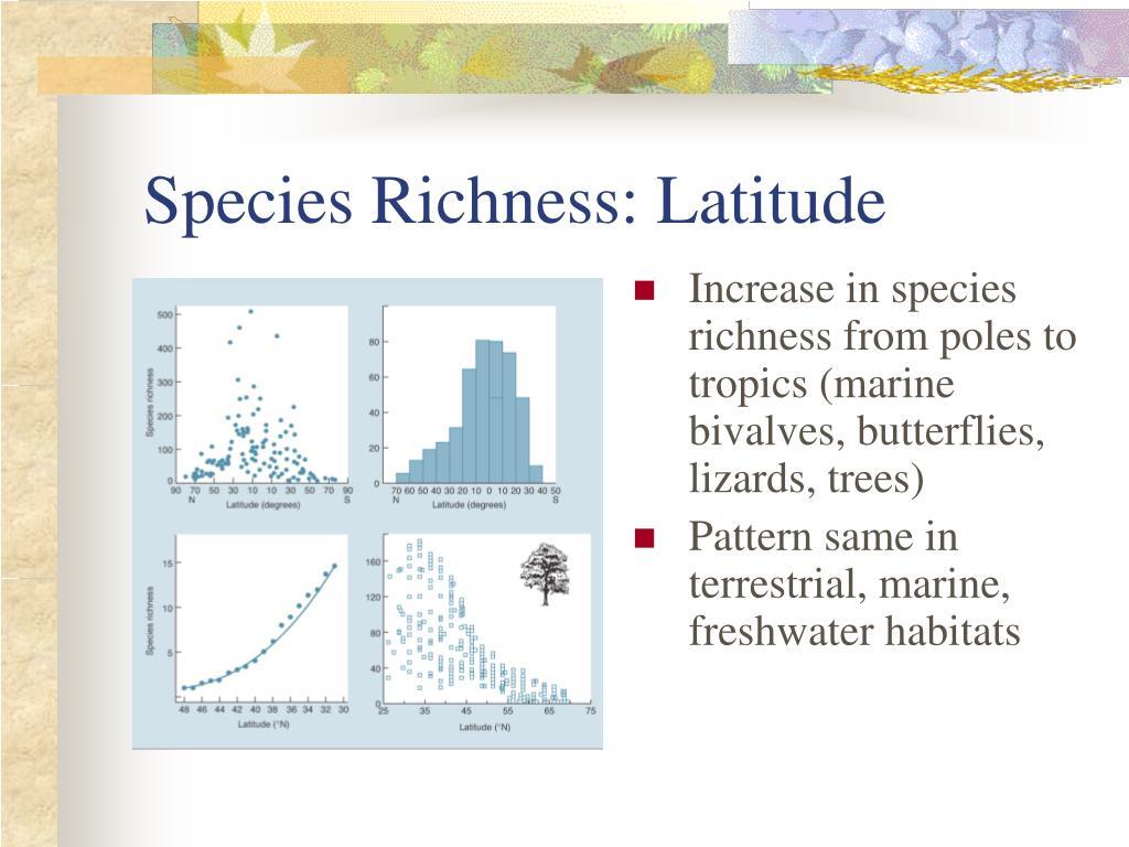 Species Richness: Latitude
