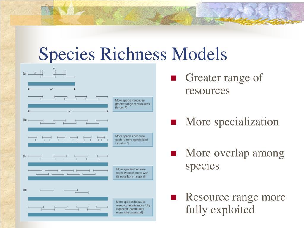 Species Richness Models