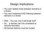 design implications