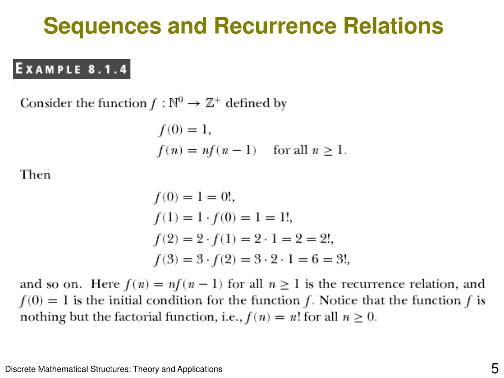 Sequences and Recurrence Relations