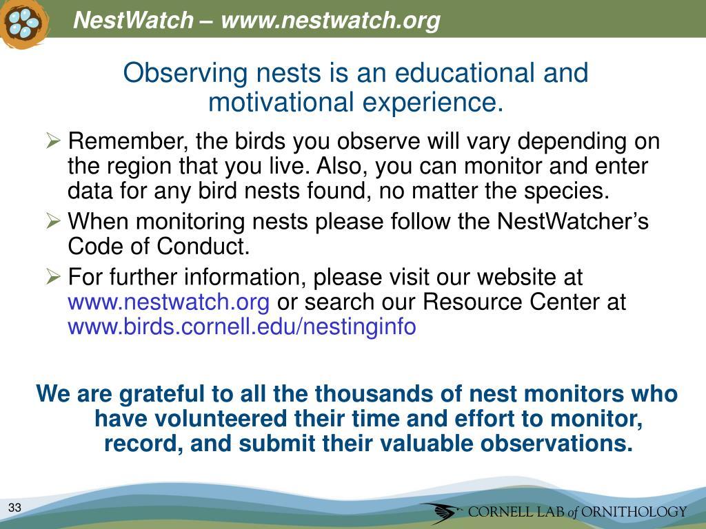 NestWatch – www.nestwatch.org
