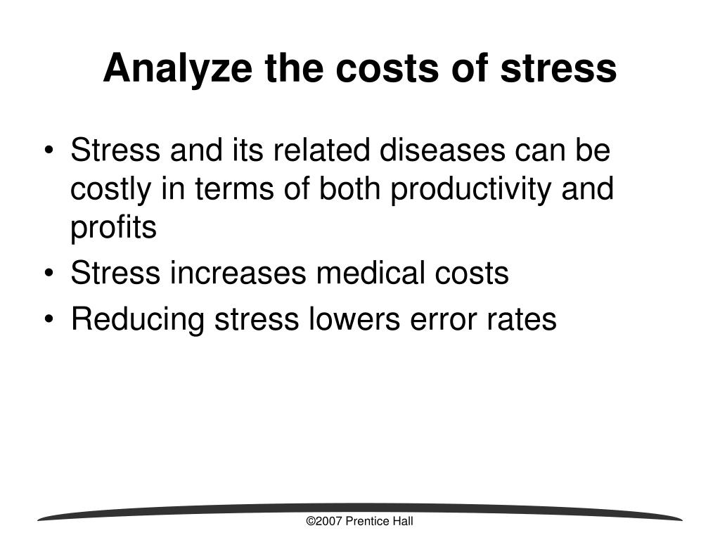 Analyze the costs of stress