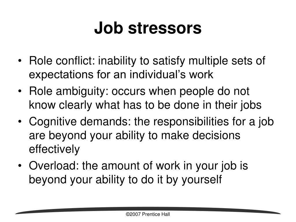 Job stressors