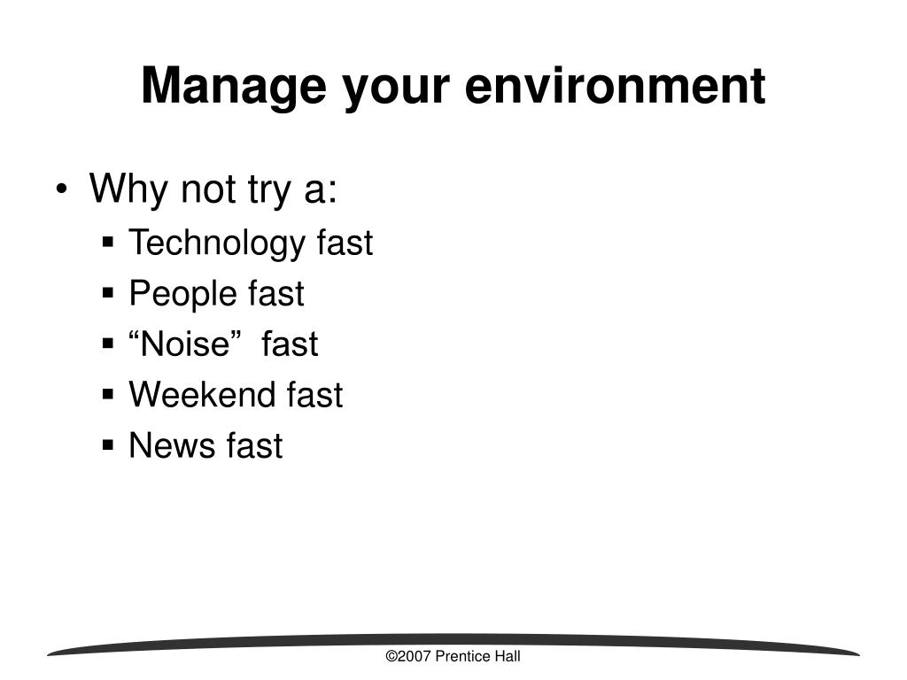 Manage your environment