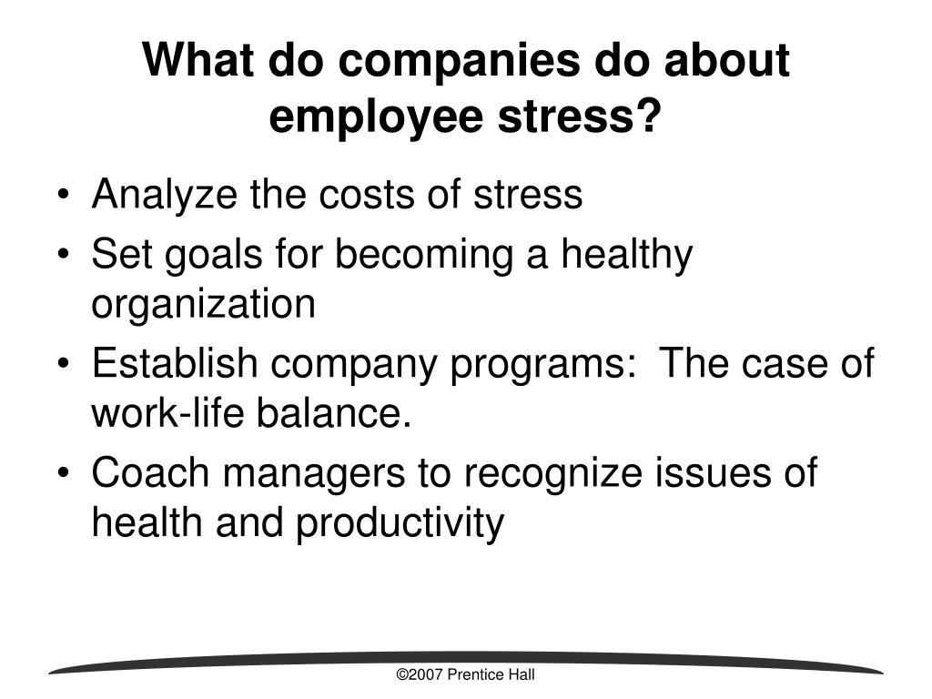 What do companies do about employee stress?