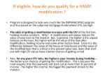 if eligible how do you qualify for a hamp modification