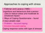 approaches to coping with stress