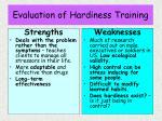 evaluation of hardiness training