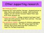 other supporting research