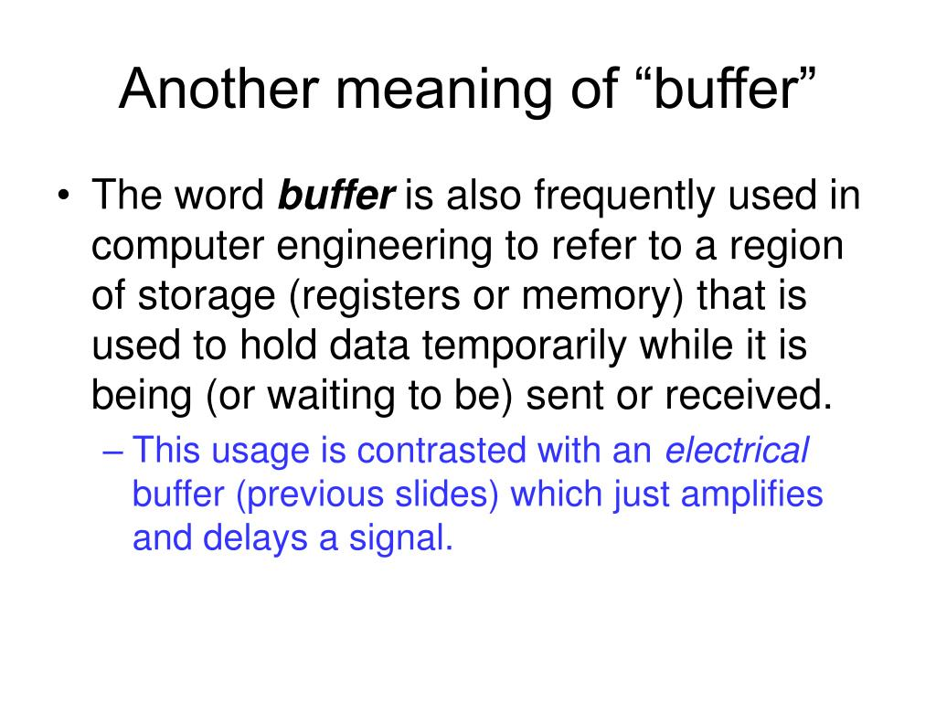 """Another meaning of """"buffer"""""""