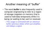 another meaning of buffer
