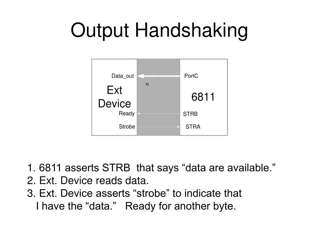 Output Handshaking