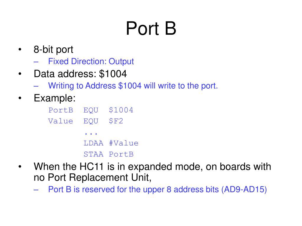 Port B