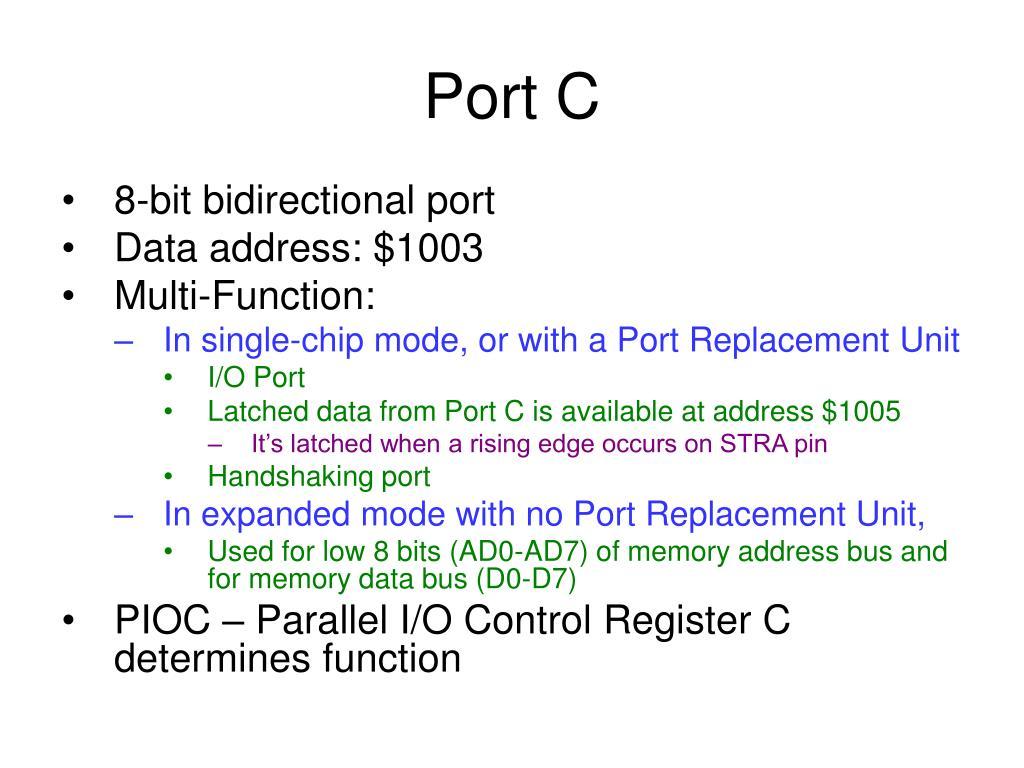 Port C