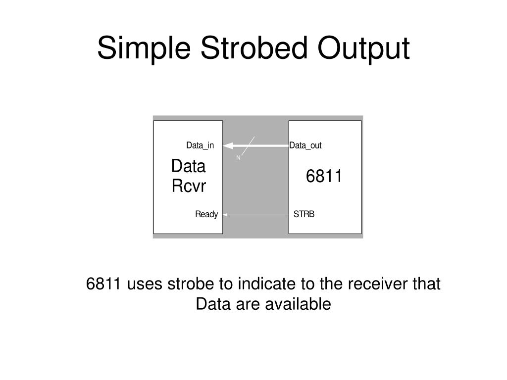 Simple Strobed Output