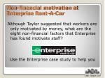 non financial motivation at enterprise rent a car