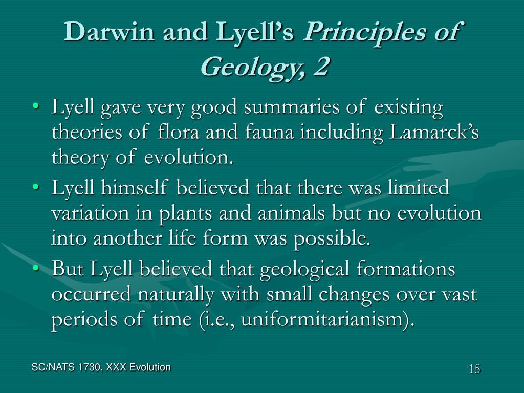 Darwin and Lyell's