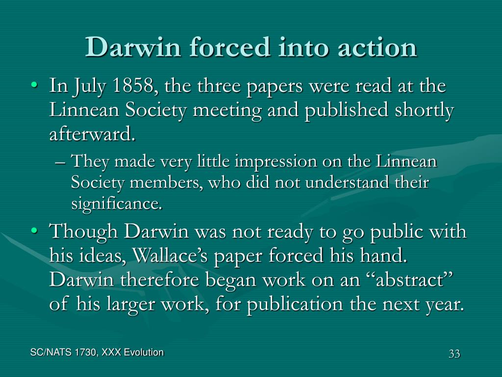 Darwin forced into action