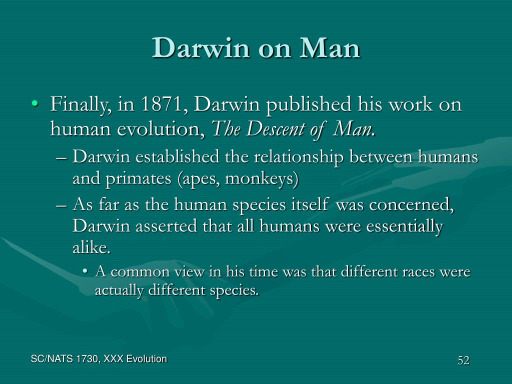 Darwin on Man