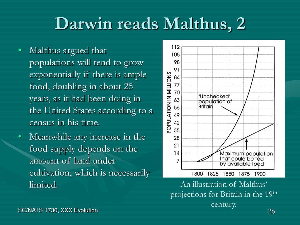 Darwin reads Malthus, 2