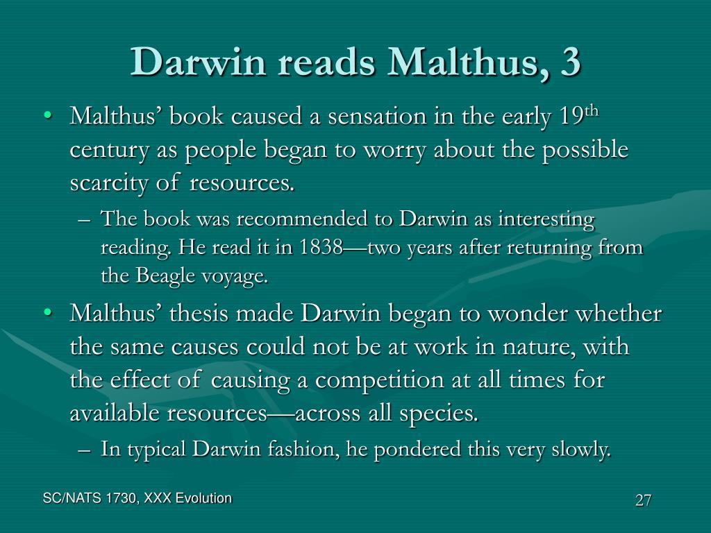 Darwin reads Malthus, 3