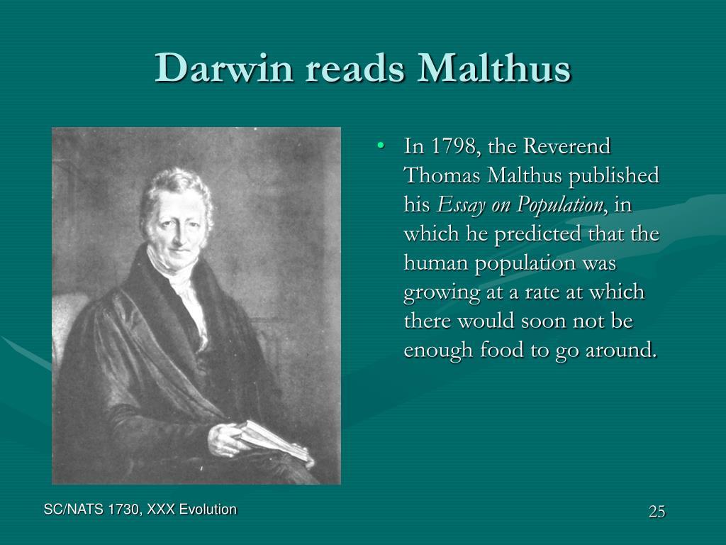 Darwin reads Malthus