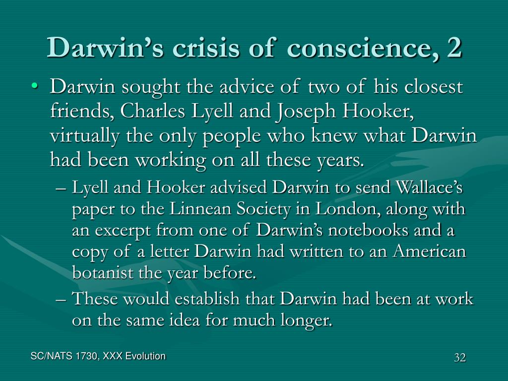Darwin's crisis of conscience, 2