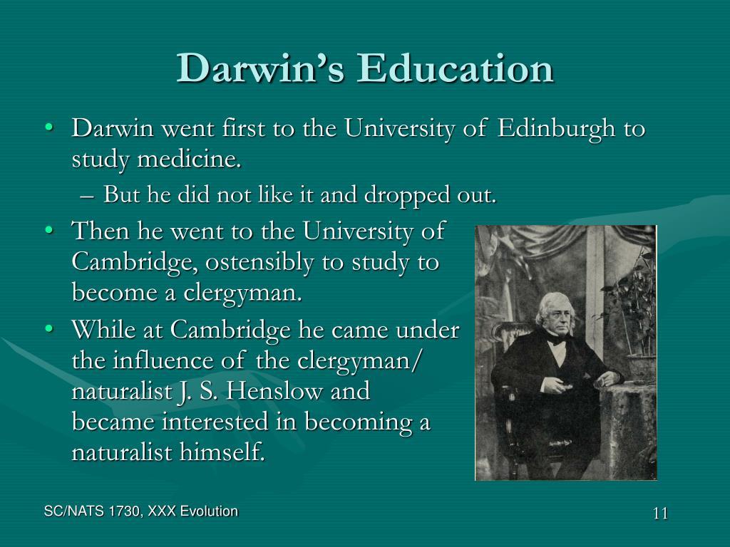 Darwin's Education