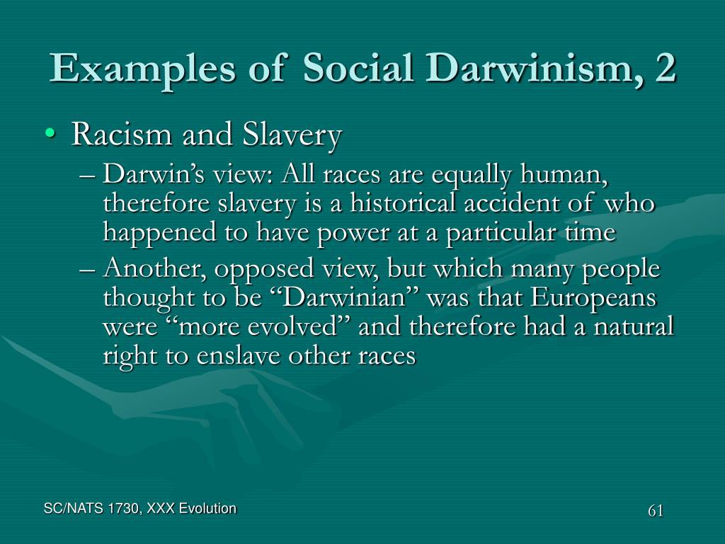 Examples of Social Darwinism, 2