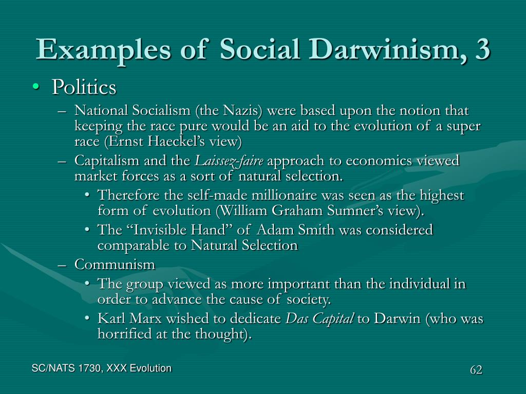 Examples of Social Darwinism, 3