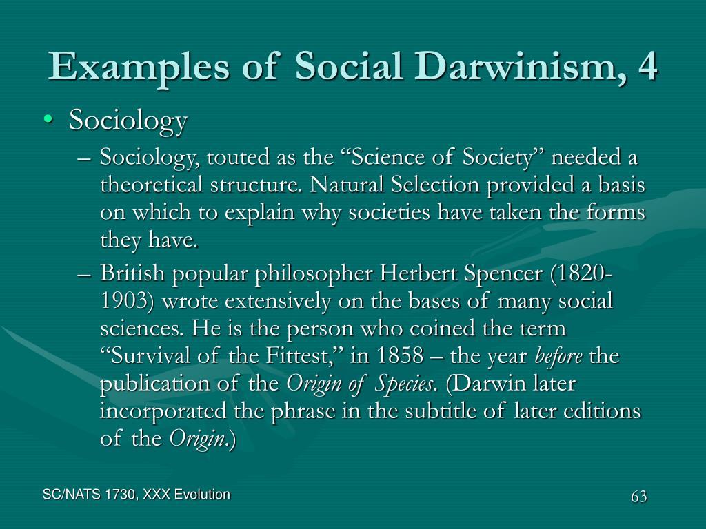 Examples of Social Darwinism, 4
