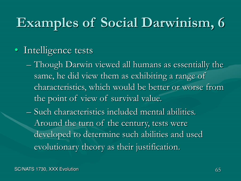 Examples of Social Darwinism, 6