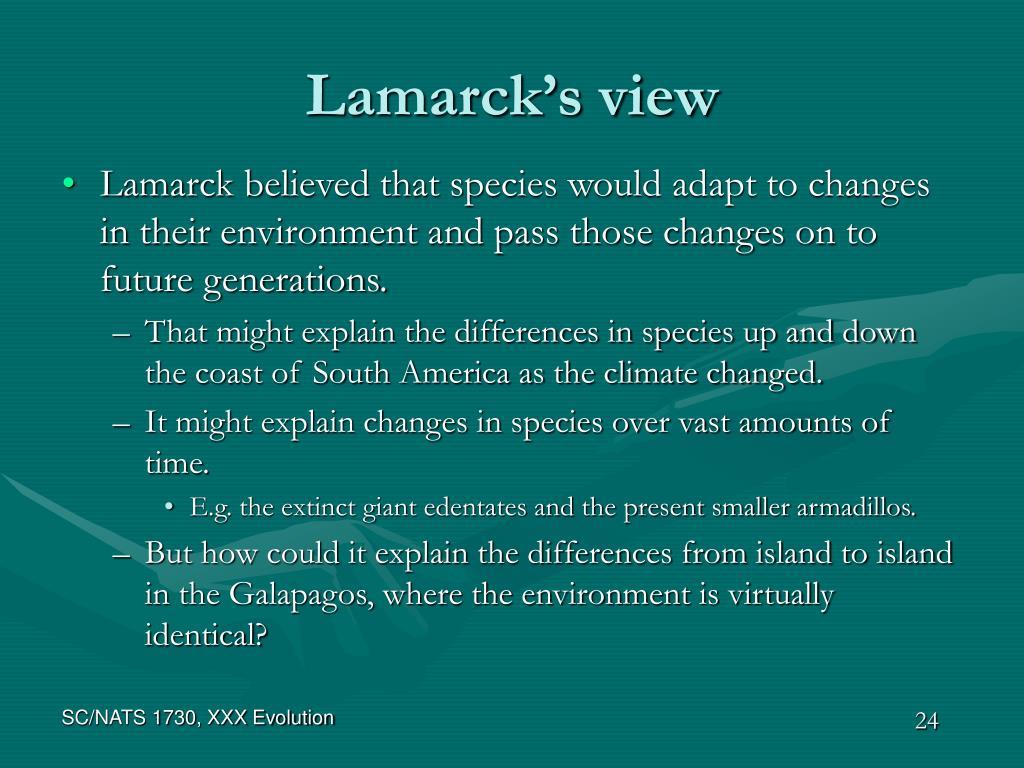 Lamarck's view