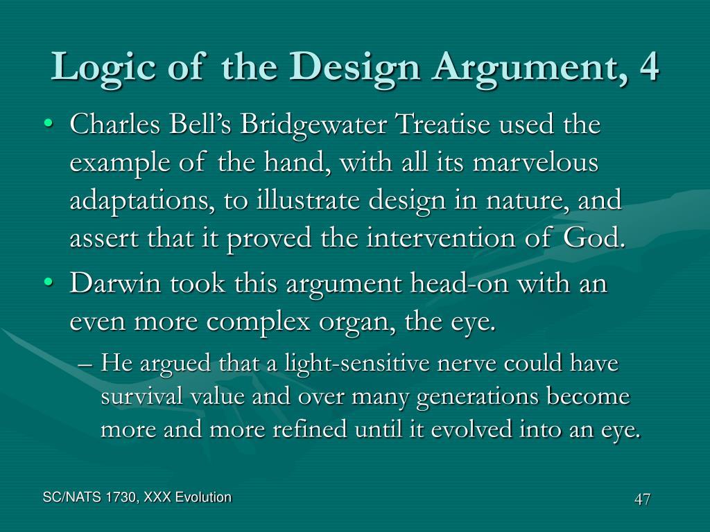 Logic of the Design Argument, 4
