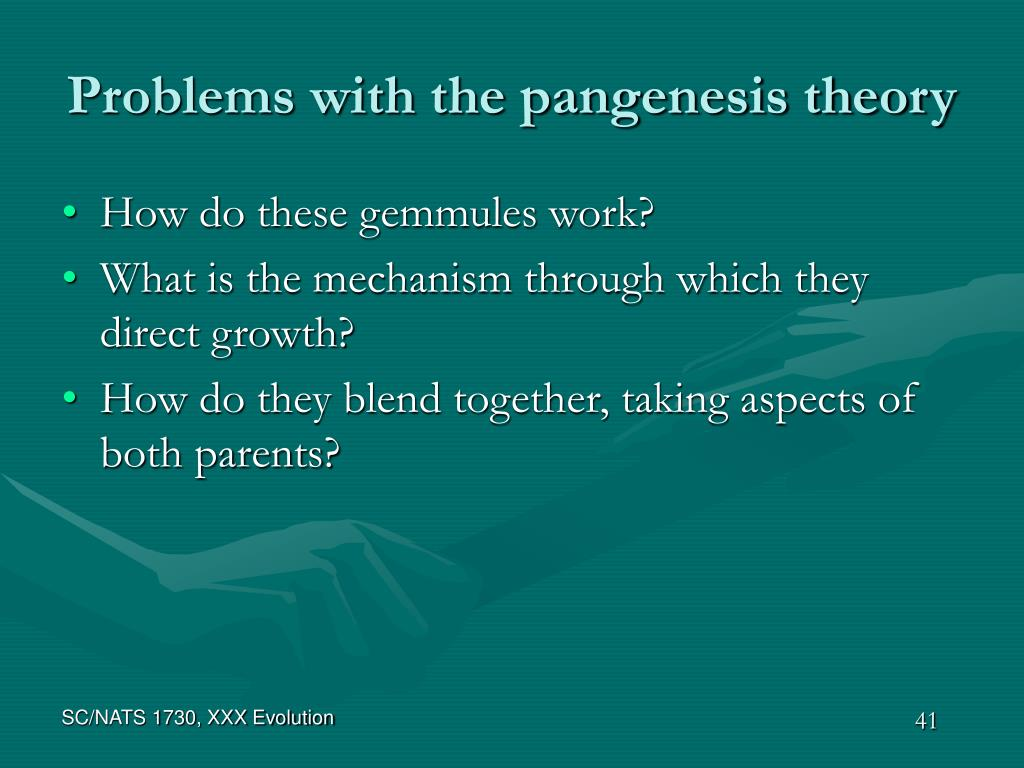 Problems with the pangenesis theory