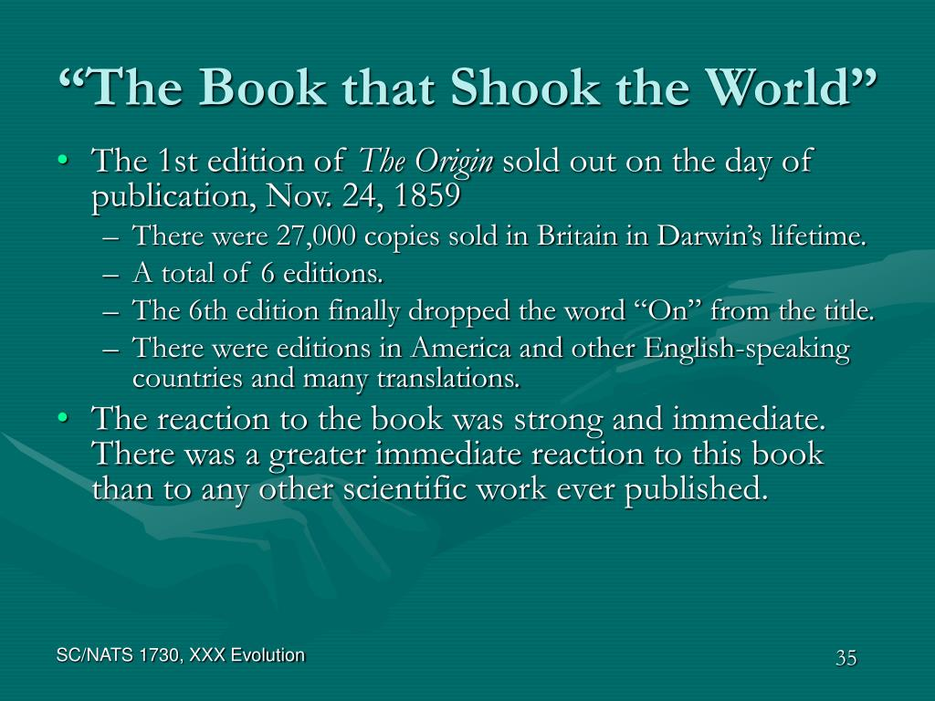 """The Book that Shook the World"""